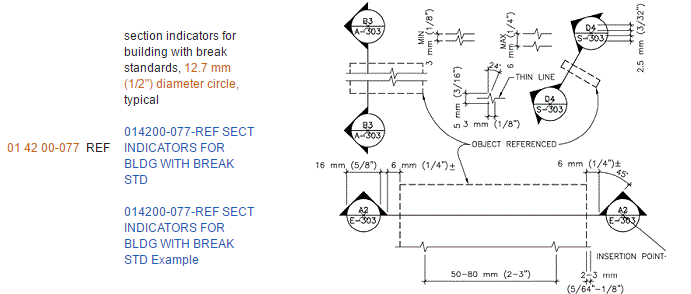 Figure 1-0 National CAD Standard - Uniform Drawing System - Module 6 - Symbols - Section Indicator