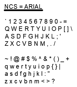 Figure 1-0 Text Styles - NCS - Arial