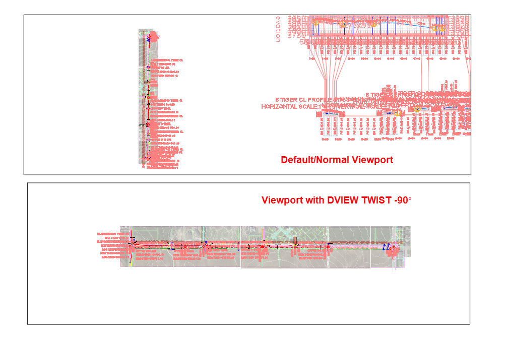 Viewport with DVIEW TWIST