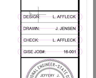 Layout - Designed, Drawn, Checked By