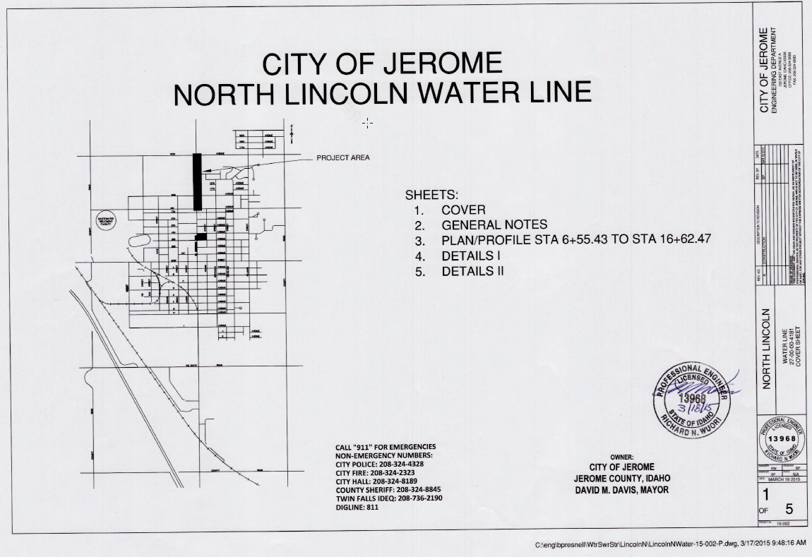 Figure 1-0 Cover Sheet - Idaho - City of Jerome by Brandi Presnell