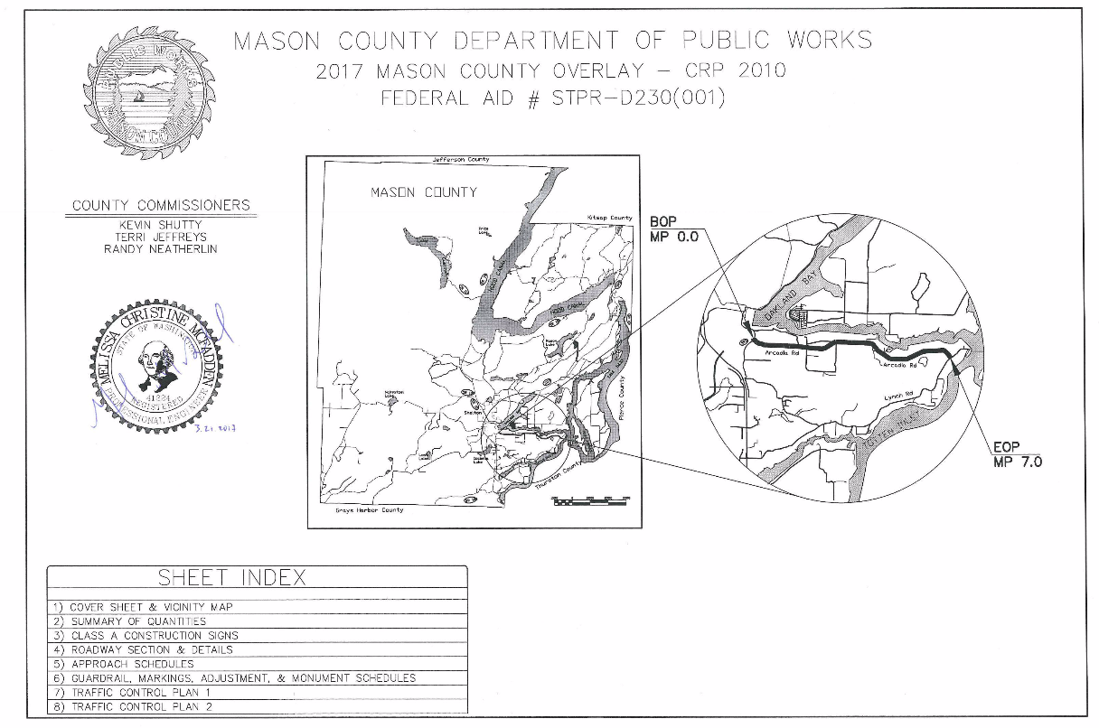 Figure 1-0 Cover Sheet - Washington - Mason County