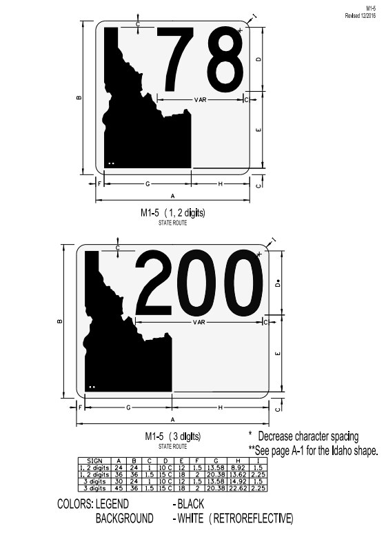 Figure 1-0 MUTCD Idaho State Route