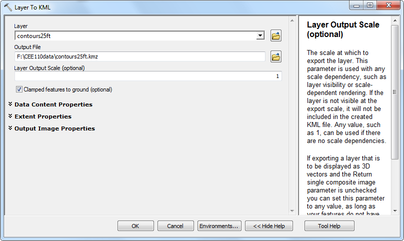 Figure 10-21 ArcMap Layer to KML Conversion