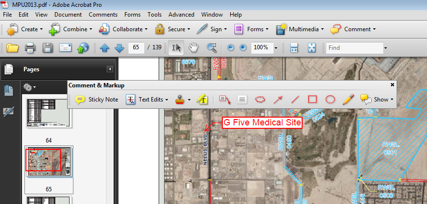 RFCD Master Plan Update - Markup using Adobe Acrobat