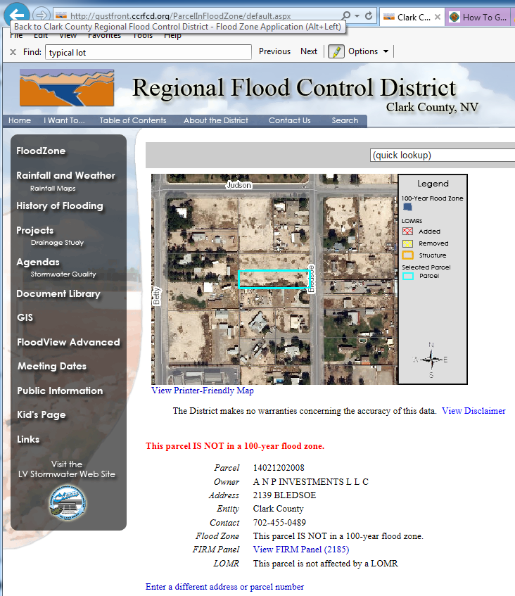 Clark County Regional Flood Control District - Flood View Report