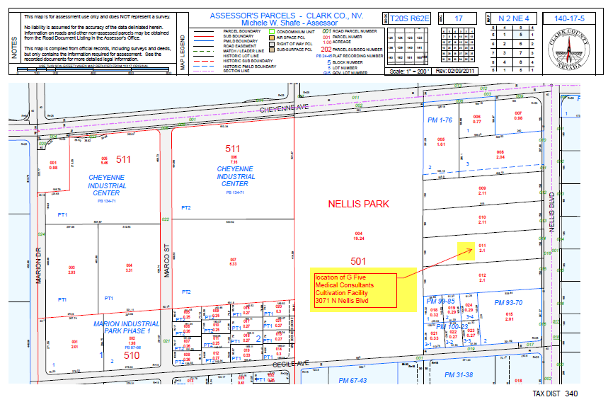 Assessor Map with Project Location Callout