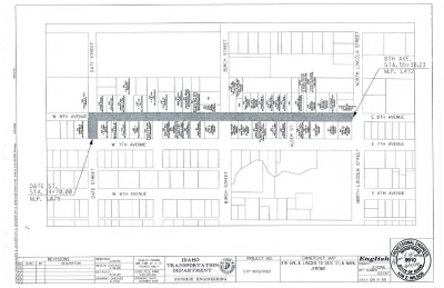 Figure 1-0 Ownership Map - 8th and Lincoln to Date and Main, City of Jerome ID