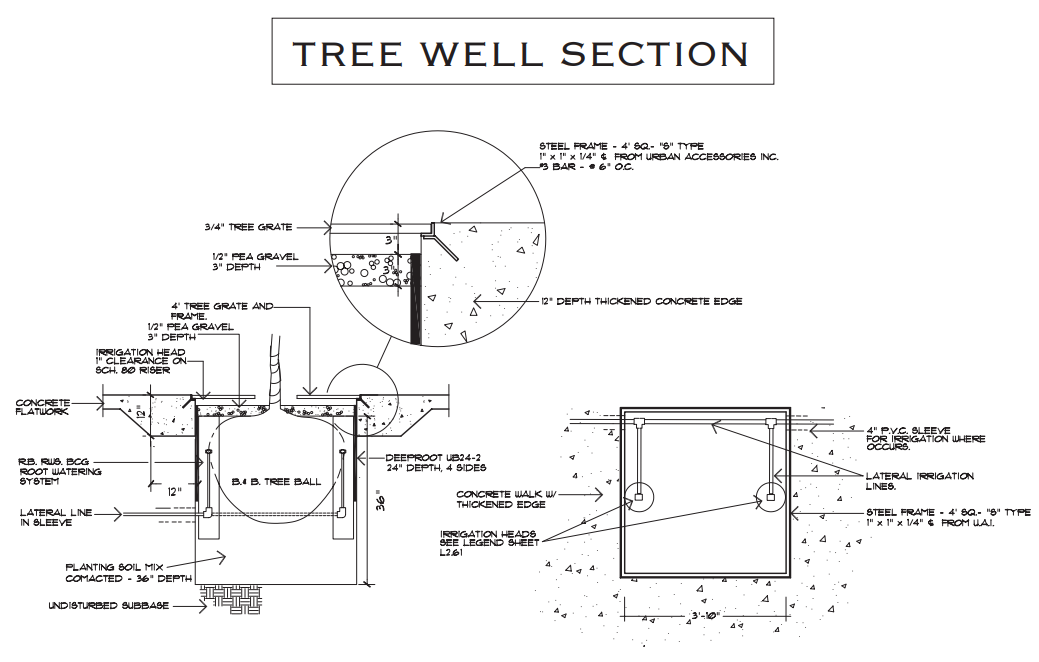 Figure 1-0 City of Eagle - Tree Well Section