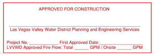 LVVWD Approved for Construction