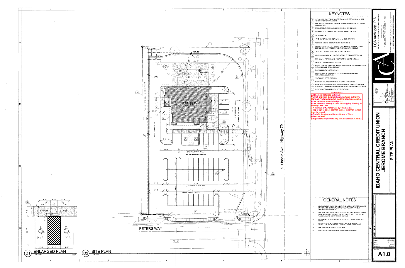 Figure 1-0 Idaho Central Credit Union - Jerome Branch - Site Plan