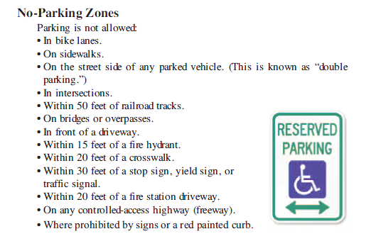 Figure 1-0 No-Parking Zones