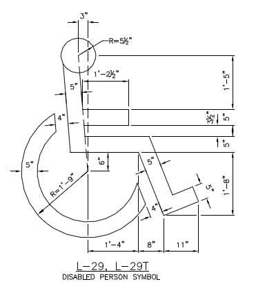 Figure 1-0 City of Seattle Wheelchair Marking