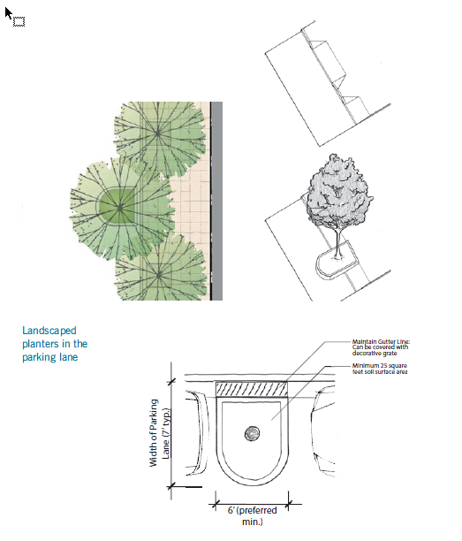 Figure 1-0 San Francisco Better Streets - Parking Lane Planters