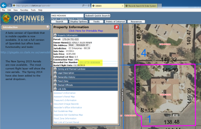 Clark County OpenWeb Property Information