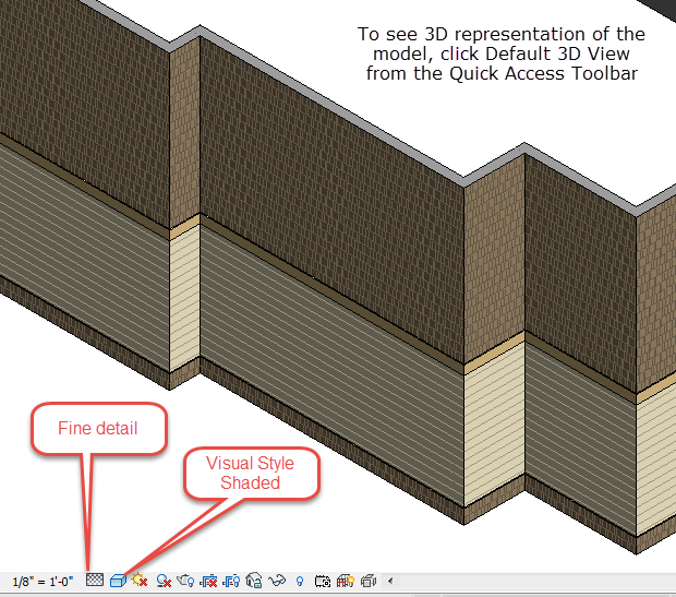 Figure 5-2.9 3D View, p. 5-15 in Residential Design Using Autodesk Revit 2014 by Daniel John Stine