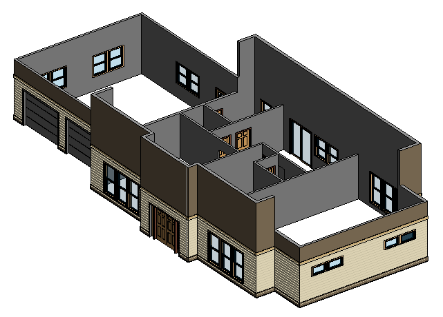 Figure 5-4.22 Completed Windows, p. 5-53 in Residential Design Using Autodesk Revit 2014 by Daniel John Stine