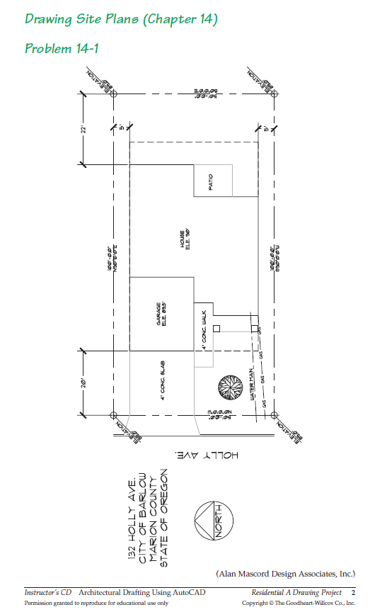 Figure 2-0 Architectural Drafting Using AutoCAD 2004, p. 490