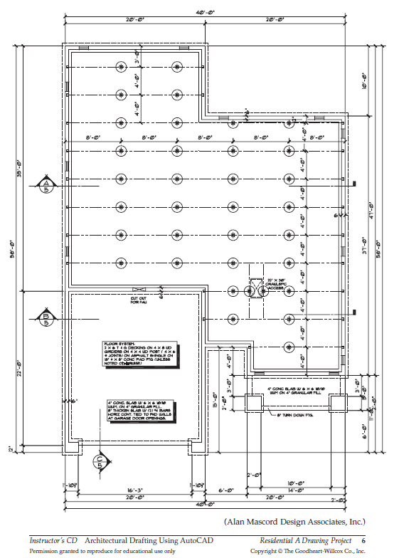 Figure 5-0 Architectural Drafting Using AutoCAD 2004 by Madsen and Palma, p. 656