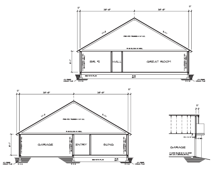 Figure 7-0 Architectural Drafting Using AutoCAD 2004 by Madsen and Palma, p. 740
