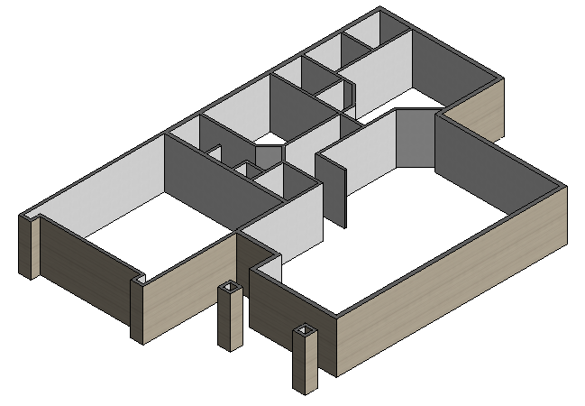 Figure 2-0 Isometric View of the north Interior