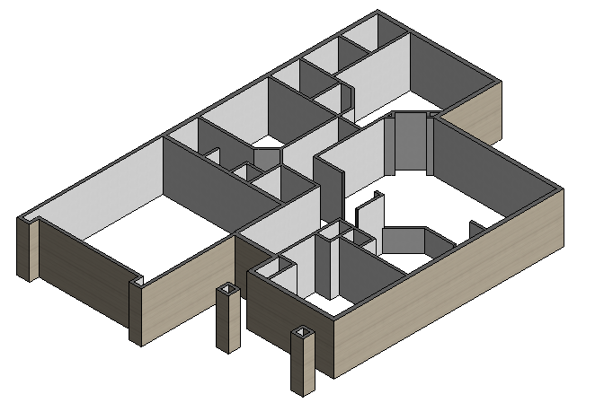 Figure 2-0 Isometric View of Interior Wall Dimensions for South side