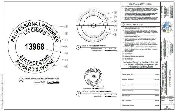 Idaho Pe Stamp Detail Drawing