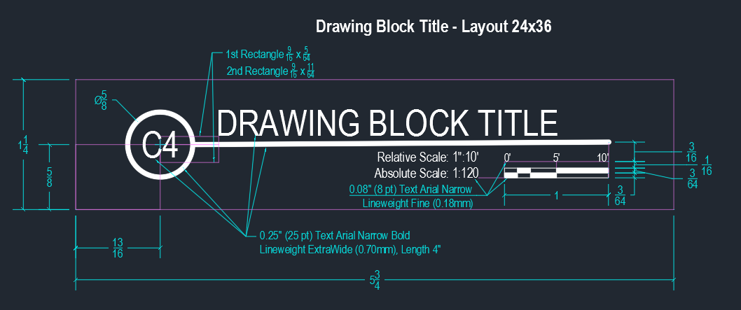 Drawing Block Title - Layout 24x36
