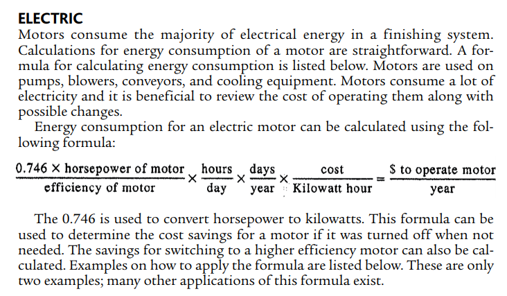 Fig. 1-1 Cost to run an electric motor