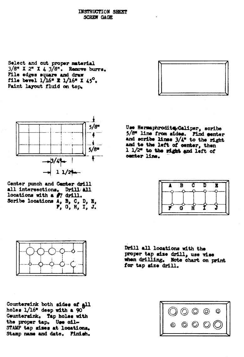 Screw Gage Instruction Sheet