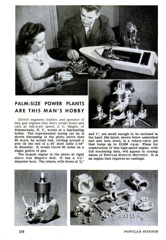 Figure 1-0 Palm-Size Power Plants by J. C. Magee from Popular Science Monthly, Feb 1946, p. 178