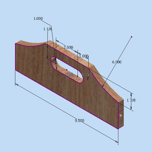 Figure 1-0 Nail box handle with Dimensions