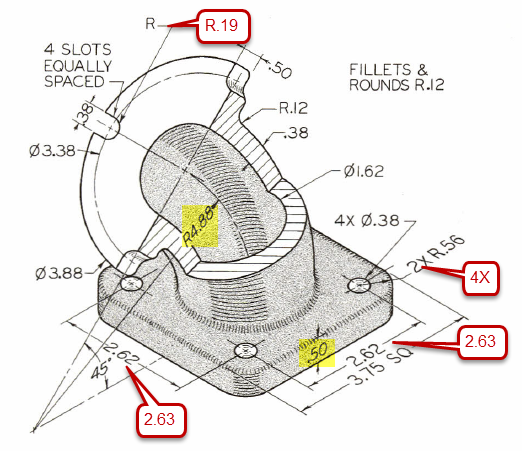 Figure 1-0 Technical Drawing with Engineering Graphics, 114th Edition by Giesecke, Mitchell, Spencer, Hill, Dygdon, Novak and Lockhart, Exercise 8.15 45° Elbow, p. 320, with corrections