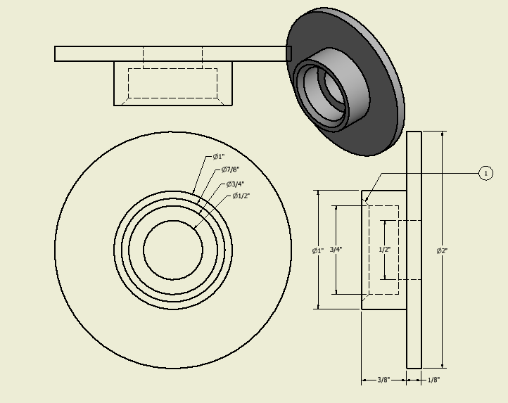 Figure 1-0 Bearing Housing Drawing