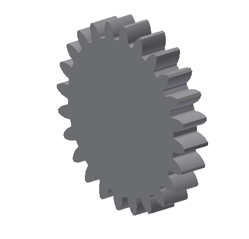 Figure 3-0 Drafting a Spur Gear - Finished Product
