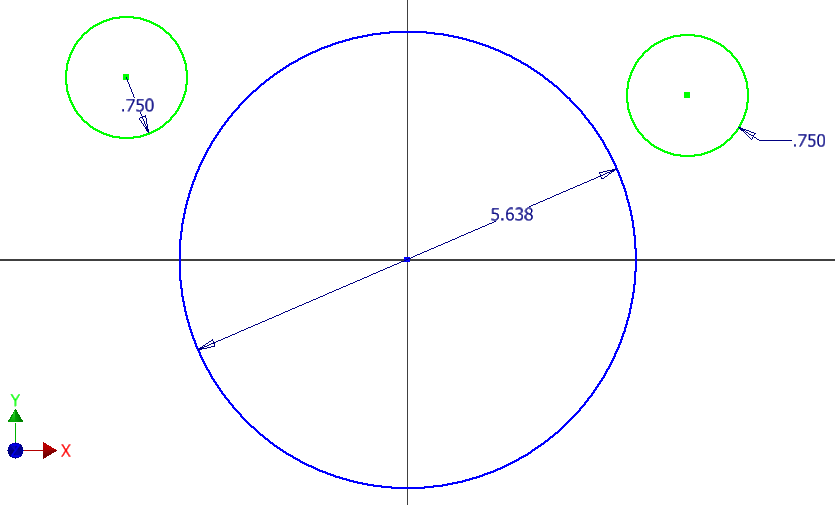 Figure 1-0 Drafting a Spur Gear - Base and Approximate Involute Circles