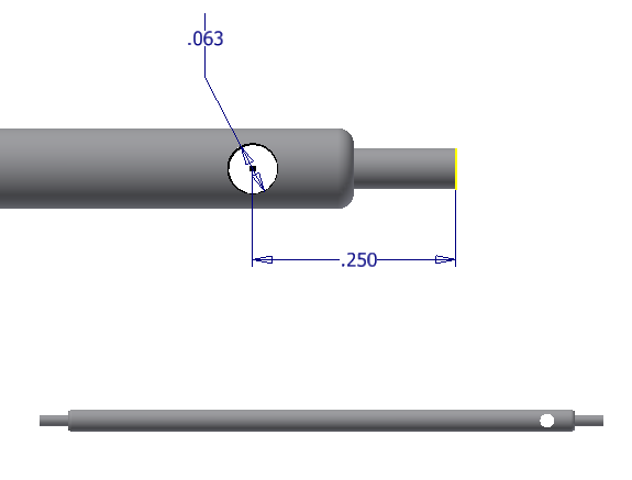 Figure 6-0 Gyroscope Center Post with Pull String Hole