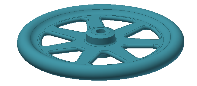 Figure 10-0 Final Gyroscope Wheel