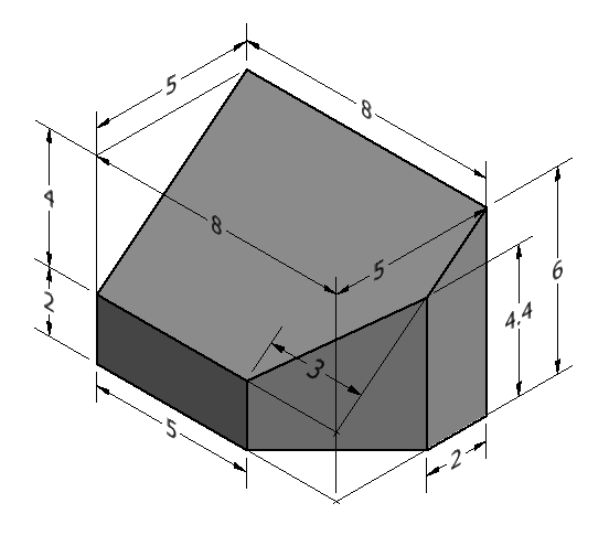 Figure 2-0 Basic Technical Drawing, 8th Edition by Spencer, Fig 7-28 Sketching Problem 8 of 20 on p. 139, Multiview and Isometric