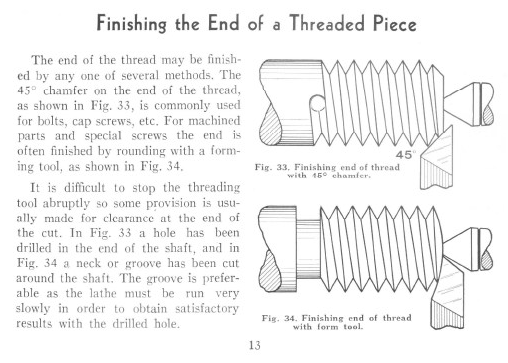 Figure 2-0 How to Cut Screw Threads in the Lathe, Bulletin No. 36A by South Bend Lathe, p. 13