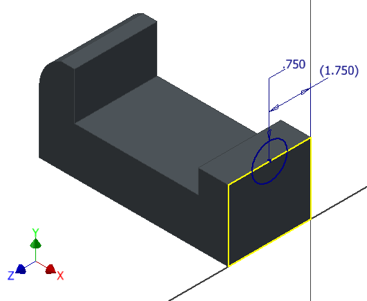 Figure 4-0 Vise Base 2D Sketch - Right View