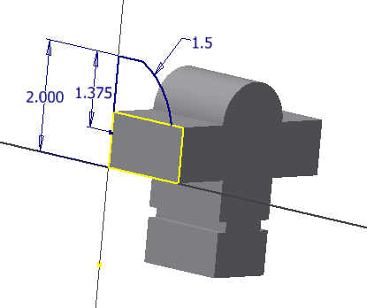 Figure 3-0 Vise Jaw 2D Sketch - Front View