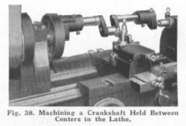 Figure 1-0 Crankshaft on a Lathe, Bulletin No. 34 by South Bend Lathe Works