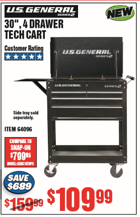Harbor Freight 4 Drawer Tech Cart