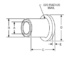 Fig. 1-1 Part 06 and 07 - bronze bearing dimensions