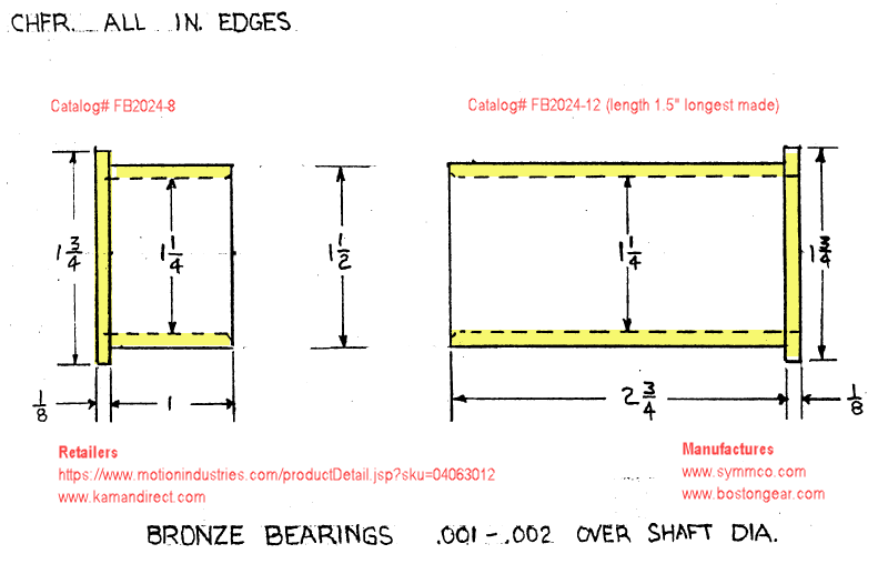 Fig. 1-1 Part 06 and 07 - bronze bearing