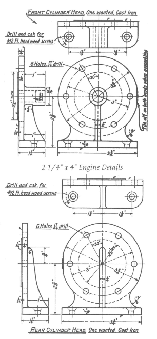 Fig. 6 Cylinder Head - Front and Rear, p. 28