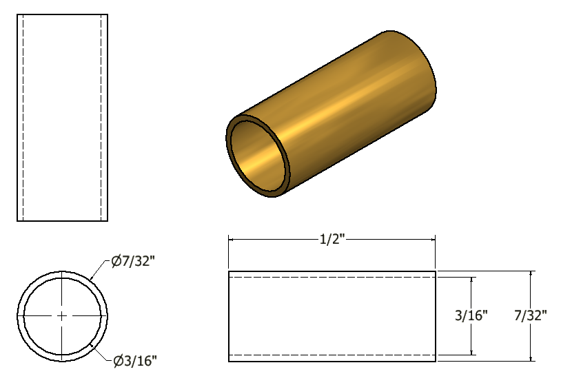 Figure 3-0 Tubal Cain Steam Engine - Brass Tubing