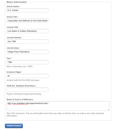 BYU Interlibrary Loan Form