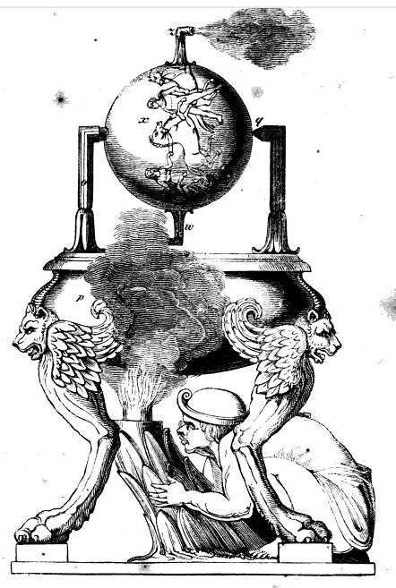 Figure 1-0 Hero Steam Engine in Descriptive History of the Steam Engine by Robert Stuart